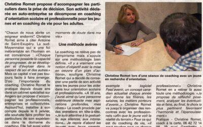 Article Courrier de l'Ouest / Château-Gontier