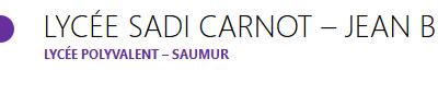 Lycée Carnot – Saumur